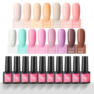 Shelloloh Nail Gel Polish Set 15 Colors 7ml Gel Varnish Semi Permanent Soak Off Nail Art