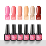 Shelloloh Gel Polish Set 6 Colors 7ml Gel Varnish Soak Off Nail Art Semi Permanent