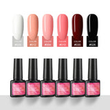 Shelloloh 5/6/8/10Pcs Nail Gel Polish Set 7ml Nail Gel Pure Glitter Color Easy To Use Long Lasting Nail Art