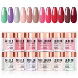 Shelloloh 4/6/10/12 Dipping Powder Set Pure Color Fast Setting Easy To Use Long Lasting Starter Professional Suitable
