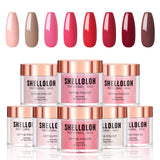 Shelloloh 2/6/8/10/12Pc Dipping Powder Set Pure Color Easy To Use Fast Setting Long Lasting Starter Set