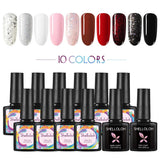 Shelloloh 10pcs Nail Gel Polish 36W Nail Lamp LED Soak Off Nail Gel Manicure Kit