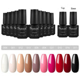 Shelloloh 10 Colors Gel Polish 7ml Nail Varnish Nail Art Set