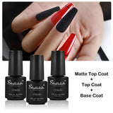 Shelloloh Top Coat Base Coat 7ml Matte Top Coat Nail Gel Polish Nail Art (Only for US Delivery)