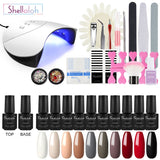 Shelloloh Nail Gel Soak Off Gel 7ml 10 Colors Nail Lamp Manicure Decoration Tools Kit Nail Glue Easy To Use