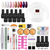Shelloloh 8 Colors 7ml Nail Gel Soak Off Gel Nail Lamp Nail Decoration Manicure Tools Kit Top Base Coat Home Salon