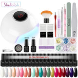 Shelloloh 10/20pc Nail Gel Manicure Tools Kit Nail Art Decoration