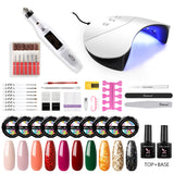 Shelloloh UV Nail Gel Pure Glitter Color Nail Lamp Nail Drill Machine Nail Art Manicure Tools Home Salon Long Lasting