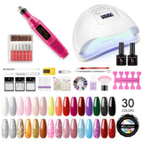 Shelloloh 30 Color UV Gel Nail Gel Nail Lamp Nail Drill Machine Manicure Kit Starter Kit Nail Art Decoration Long Lasting