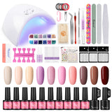Shelloloh Nail Gel Polish Kit 36W UV/LED Lamp 10 Colors 7ml Gel Varnish Top Coat Base Coat Nail Art Manicure