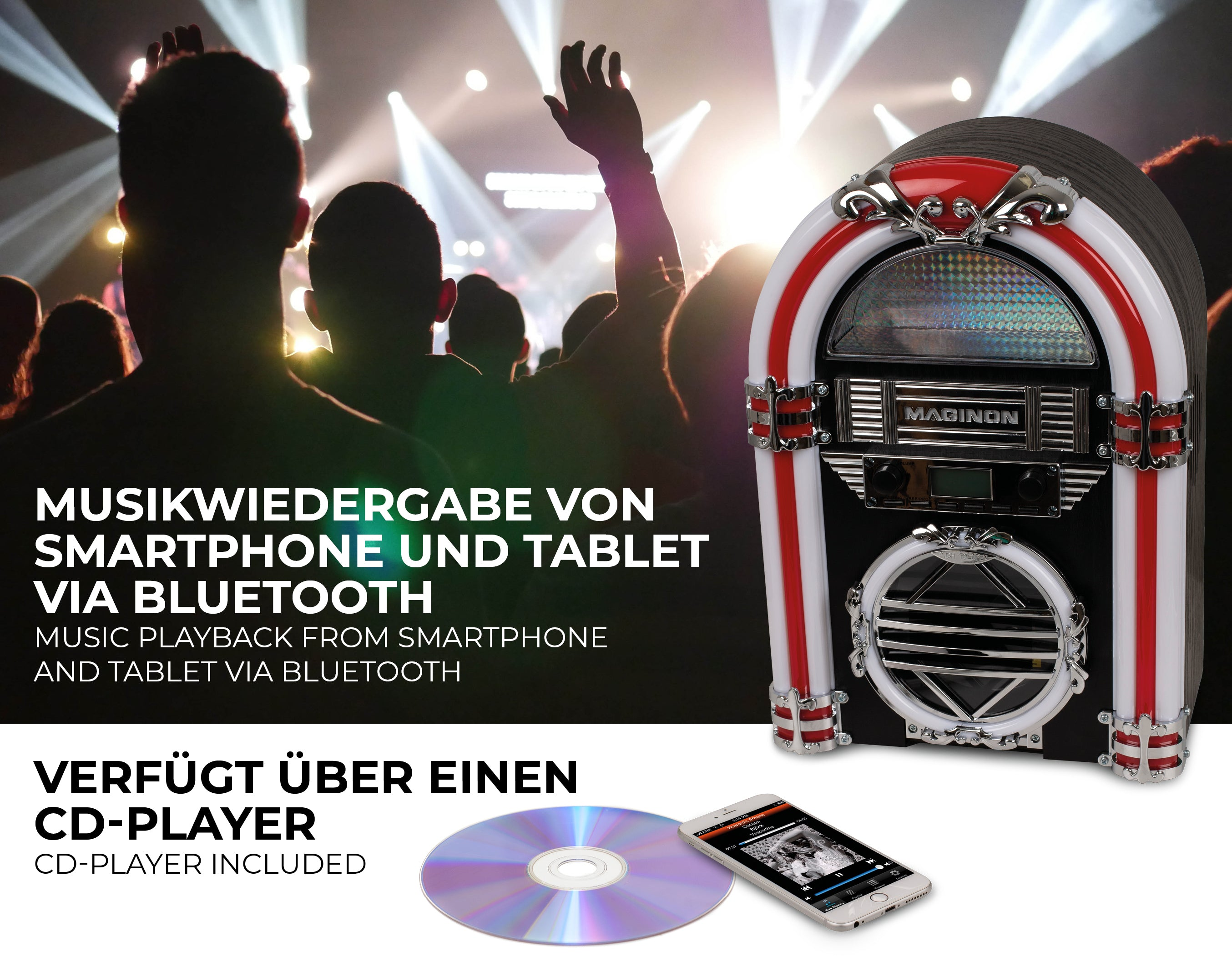 Maginon CJB 10 CD Mini-Jukebox