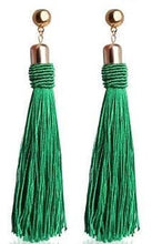 Load image into Gallery viewer, VIBE Out Long Tassel Earrings
