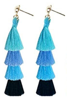 Load image into Gallery viewer, VIBE Out Layered Tassel Earrings