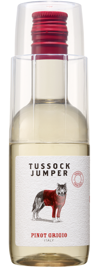 Pretzels and Wine with Tussock Jumper Pinot Grigio (187ml)