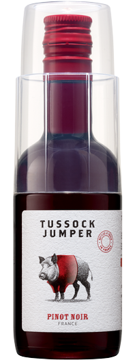 Pretzels and Wine with Tussock Jumper Pinot Noir (187ml)