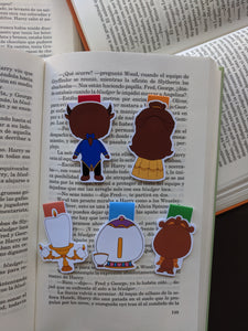 Magnetic bookmarks - Beauty and the Beast I