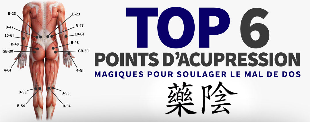Les Points d'Acupression pour le Dos
