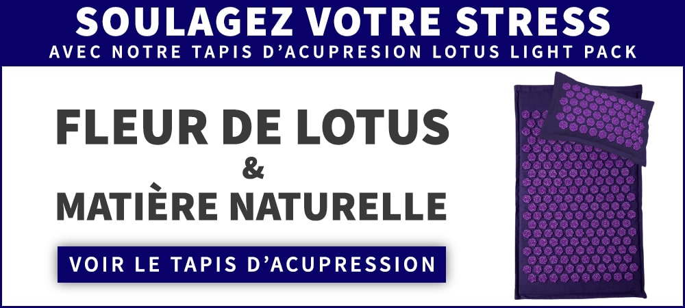 Réduire le stress avec le tapis d'acupression light pack