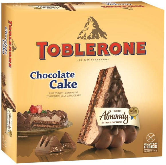 ALMONDY Chocolate Cake with piece of Toblerone - Clearance Sale 50% OFF at Check out (BBD 14/04/21)