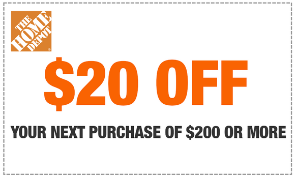 HOMEDEPOT $20 OFF $200 IN-STORE COUPON