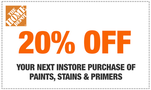 HOMEDEPOT 20% OFF PAINTS, STAINS & PRIMERS INSTORE