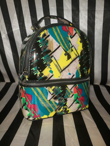 MULTICOLORED GRAFFITI BACKPACK
