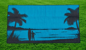 Beach Design - Mats By Design - eco friendly affordable lightweight recycled plastic camping camper indoor outdoor mat rug