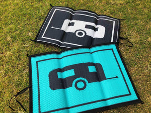 Matching Doormats -  90cm x 60cm - Mats By Design - eco friendly affordable lightweight recycled plastic camping camper indoor outdoor mat rug