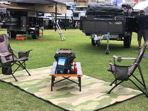 Camo Design - Mats By Design - eco friendly affordable lightweight recycled plastic camping camper indoor outdoor mat rug