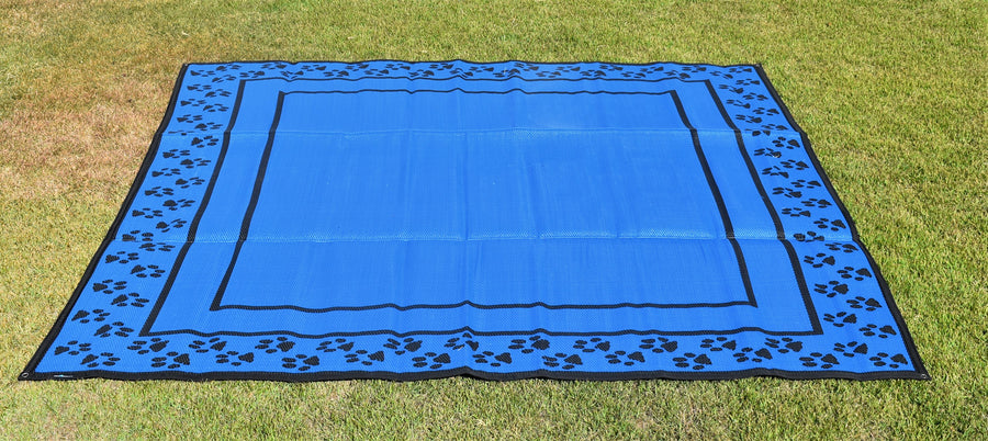 Paw Print Design - Mats By Design - eco friendly affordable lightweight recycled plastic camping camper indoor outdoor mat rug