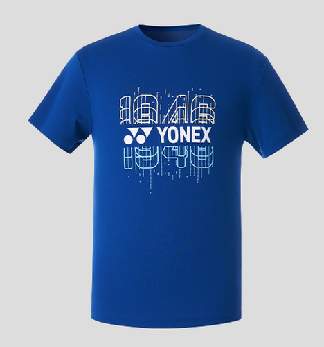 Yonex Men's Round Graphic T-Shirt (Navy Blue) 209TR011M