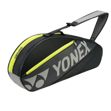 Load image into Gallery viewer, Yonex 7623 (Dark Grey) 3pk Badminton Tennis Racket Bag