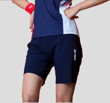 Load image into Gallery viewer, Yonex Women's Slim Fit Woven Shorts (Navy) 201PH008F