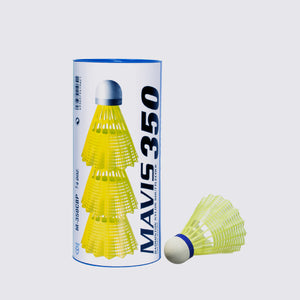 Yonex Mavis 350 / Yellow/ Medium Speed /  Nylon Shuttlecocks (3pcs)