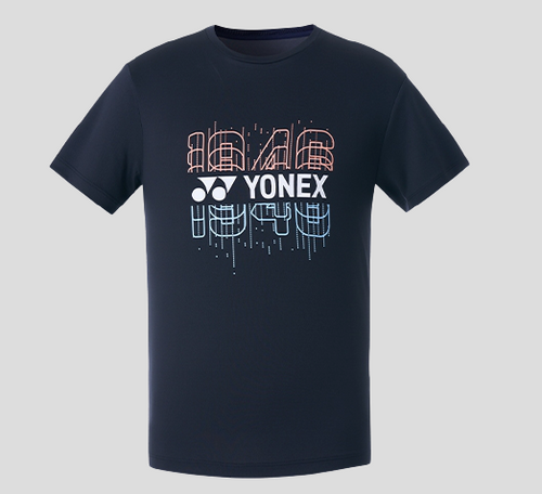 Yonex Men's Round Graphic T-Shirt (Black) 209TR011M