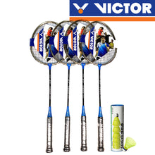 Load image into Gallery viewer, Victor ST 1800 (Pre-Strung) 4 Badminton Racket Combo
