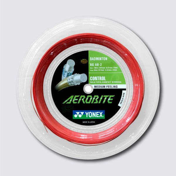 Yonex Aerobite 200m Badminton String (White / Red) - JoyBadminton