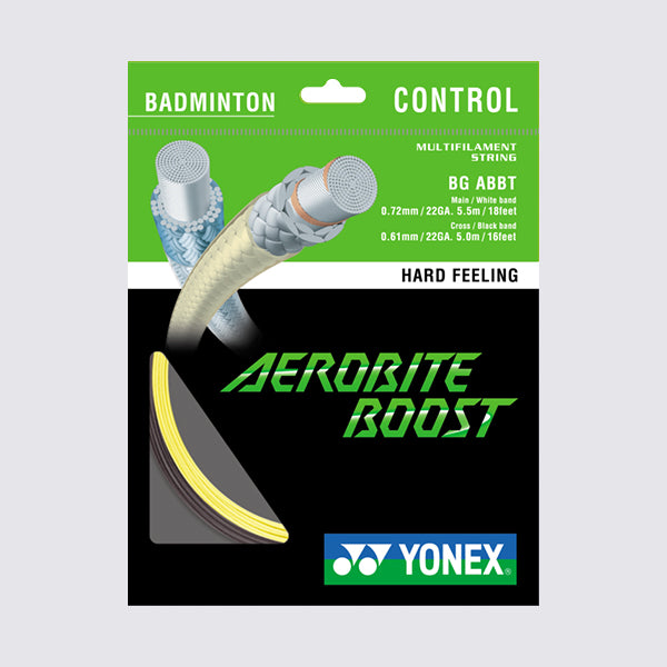 Yonex Aerobite Boost 10m Badminton String (Grey / Yellow)