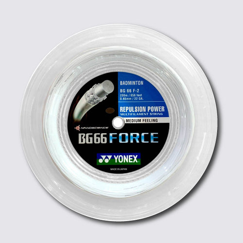 Yonex BG 66 Force 200m Badminton String (White) - JoyBadminton