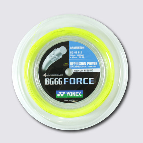 Yonex BG 66 Force 200m Badminton String (Yellow) - JoyBadminton