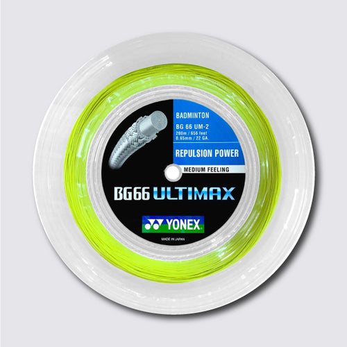 Yonex BG 66 Ultimax 200m Badminton String (Yellow) - JoyBadminton