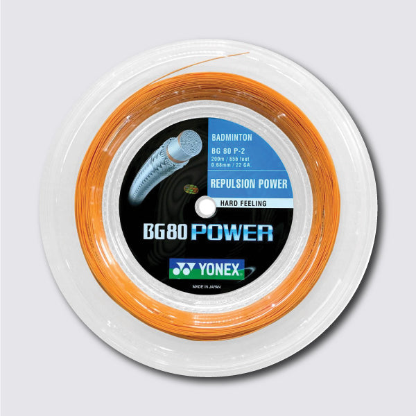 Yonex BG 80 Power 200m String (Bright Orange) - JoyBadminton