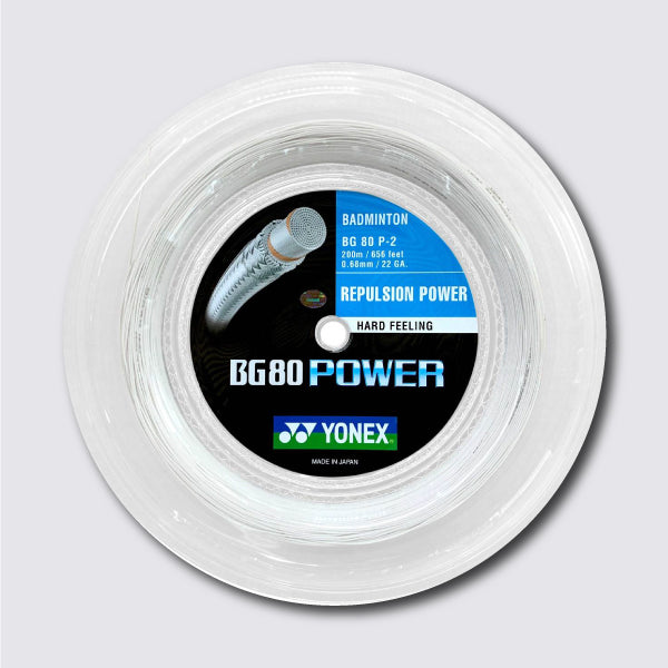 Yonex BG 80 Power 200m String (White) - JoyBadminton