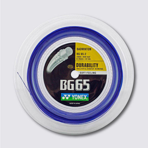 Yonex BG 65 200m Badminton String (Royal Blue) - JoyBadminton