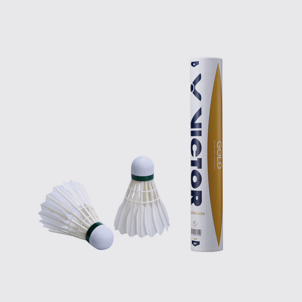 VICTOR Gold Feather Shuttlecock - JoyBadminton