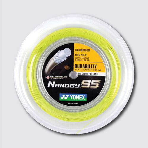 Yonex Nanogy 95 200m Badminton String (Flash Yellow) - JoyBadminton