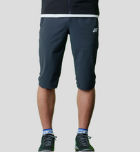 Load image into Gallery viewer, Yonex Men's Slim Fit Knee Length Shorts (Charcoal Grey) 201PH009M
