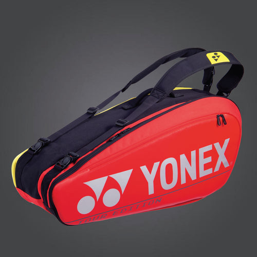 Yonex 92026 (Red) 6pk Badminton Tennis Racket Bag