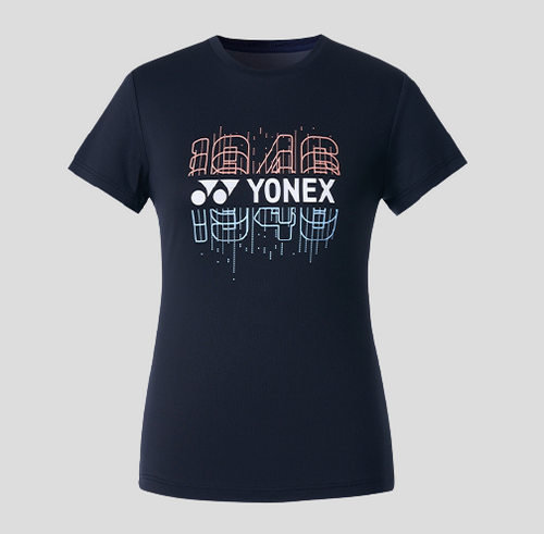Yonex Women's Round Graphic T-Shirt (Black) 209TR012F
