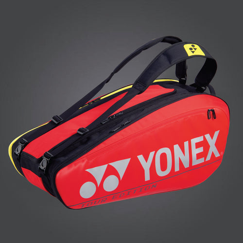 Yonex 92029 (Red) 9pk Badminton Tennis Racket Bag